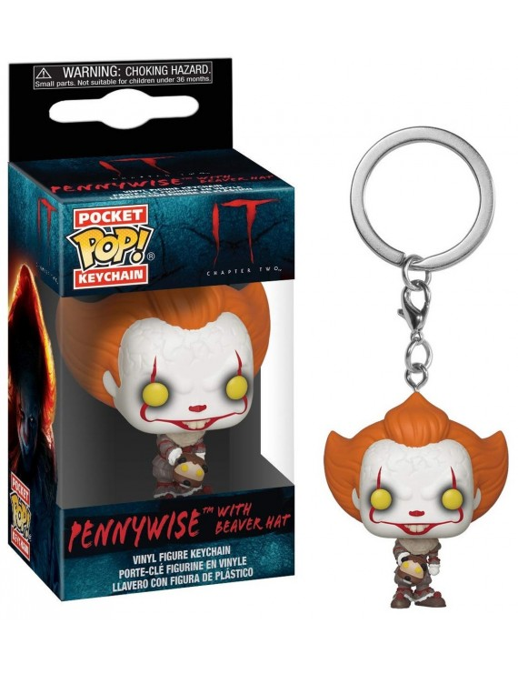 POP KEYCHAIN: IT 2 - PENNYWISE WITH BEAVER HAT