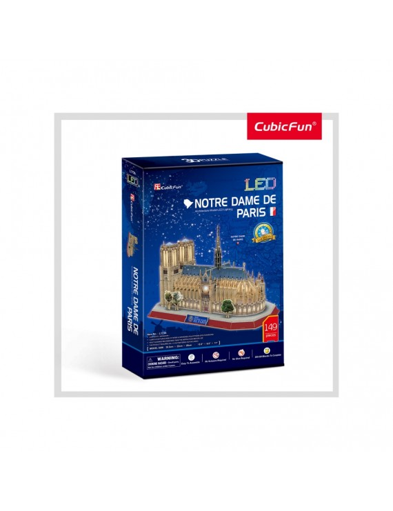 PUZZLE 3D LED NOTE DAME 149 PIESE