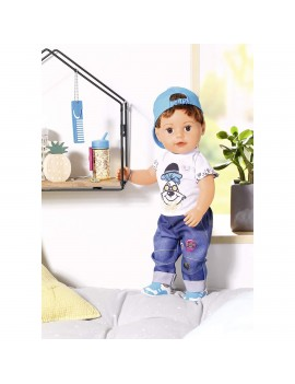 BABY born - Fratior interactiv cu corp moale, 43 cm